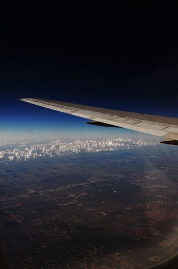 Aerial View Aircraft Wing Airplane Clouds Landscape Landscape_Collection Transportation Ver Window