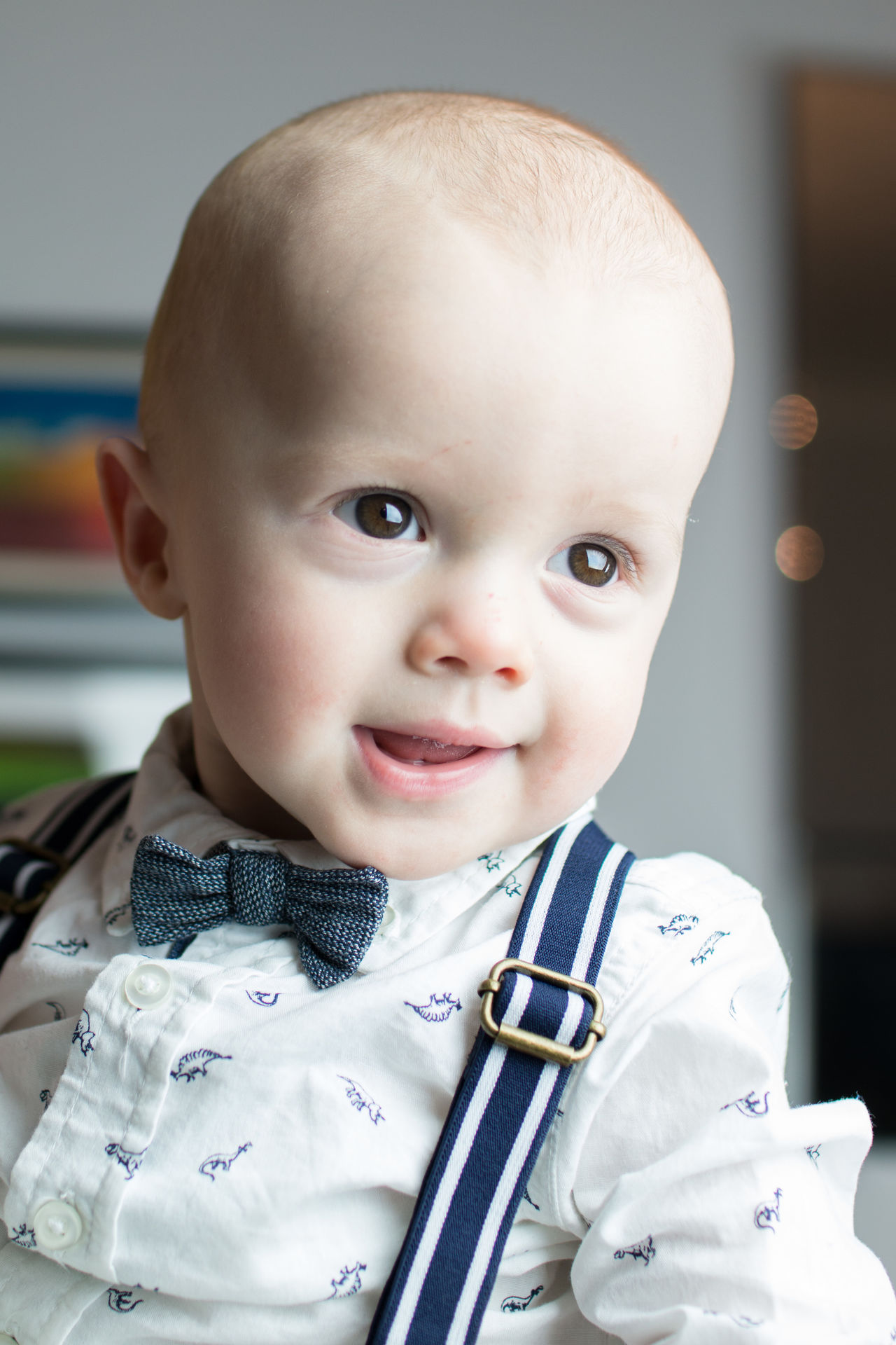 cute closeup Babies Only Baby Baby Bpy Bow Tie Child Childhood Close-up Cute Cute Baby Day Eyes Happy Baby Headshot Human Body Part Human Face Indoors  One Person Portrait Portraits Smartly Dressed Baby Smiling Baby  Sweet Baby