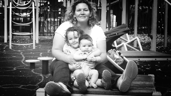 Family Matters Love My Family ❤ Black & White At The Park