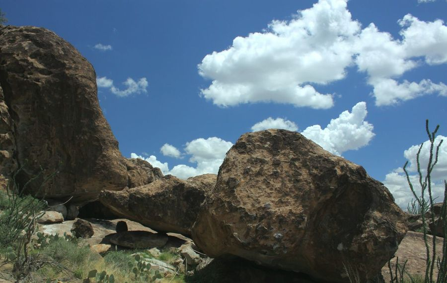 Nature Rock - Object Outdoors No People Landscape Beauty In Nature Huecotanks Rock Climbing Area Arid Climate Cloud - Sky Desert Rock Formation Lost In The Landscape