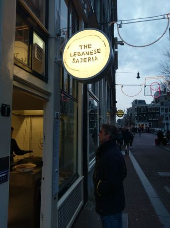 foodies Amsterdam Netherlands Dutch Foodstyle Restaurants Qualityoflife Lebanese Food Feedme Foodies Window Streetphotography Street One Person Adult City Real People Architecture One Man Only Day