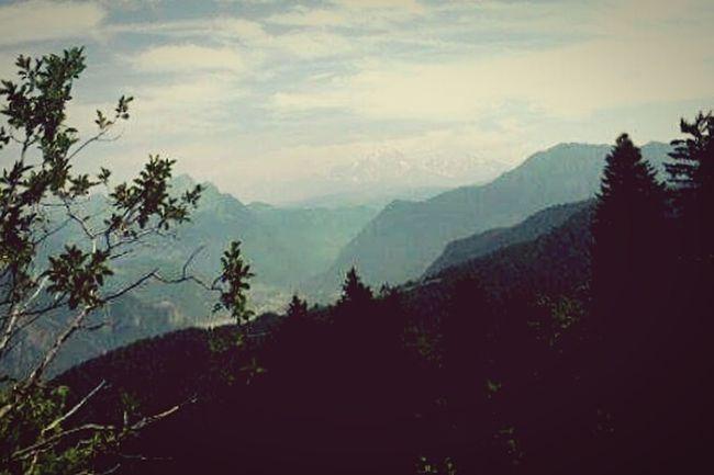 Vue sur le Mont Blanc depuis le massif des Bauges Trail Mountain View First Eyeem Photo
