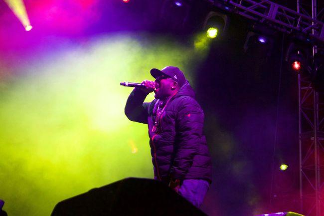 Big Grams killing it at the Burton US open Biggrams Burtonusopen Concert Fog HipHop Lowlight Night Outdoor Concert Outdoors Rap Winter Showcase March
