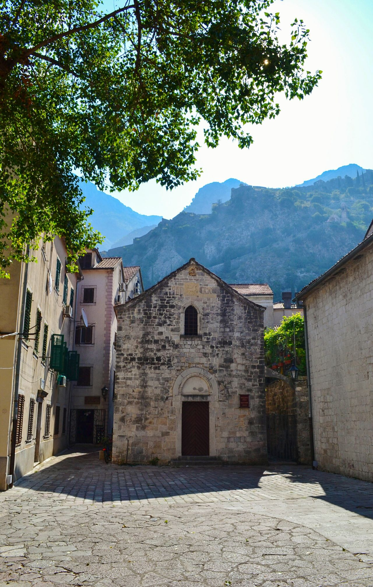 Little church Kotor Cattaro Montenegro Architecture Building Exterior Built Structure History Travel Destinations Tradition Tree Medieval Outdoors Mountains Square Home Church