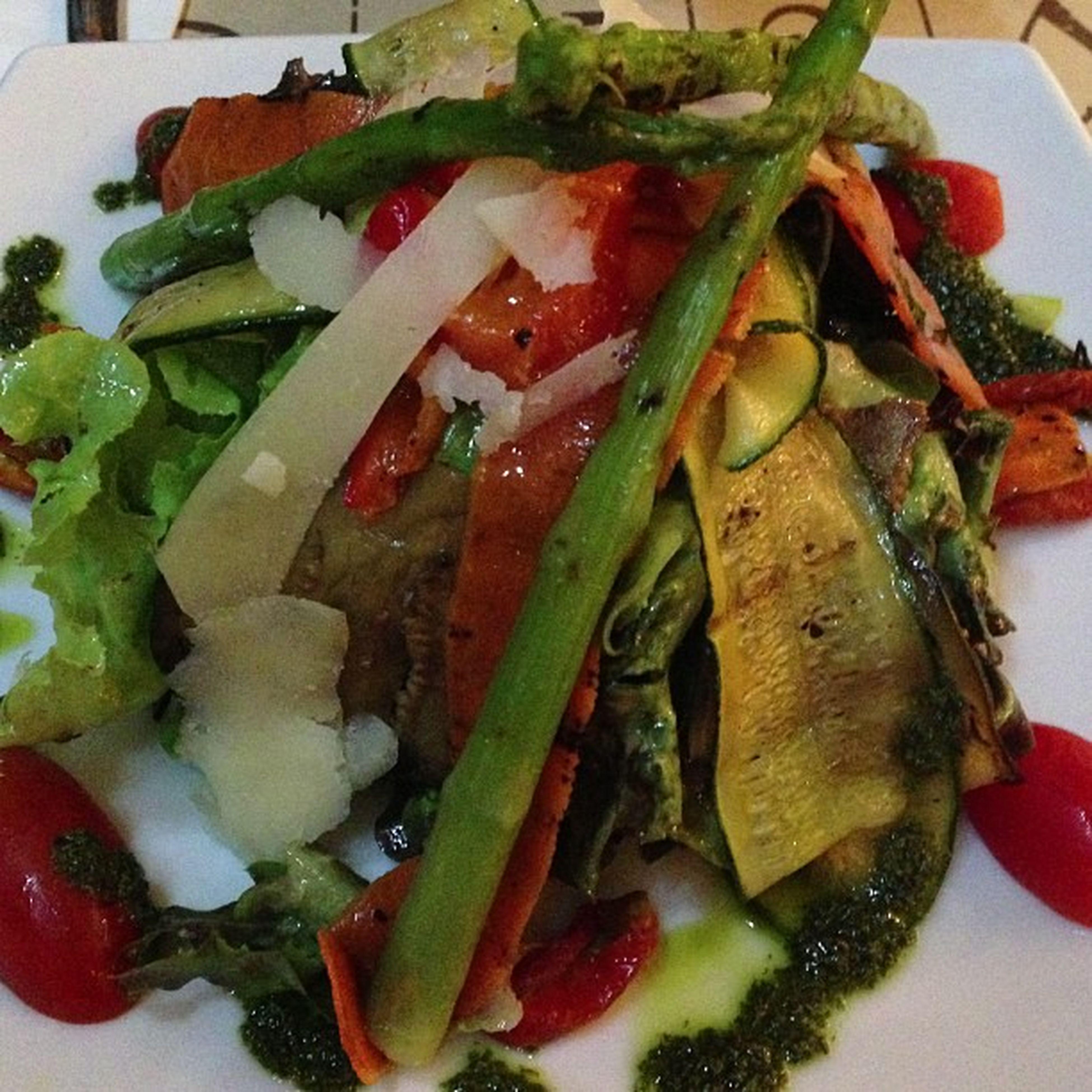 Grilled veggies!! Fiber Veggies Italiandressing Salad