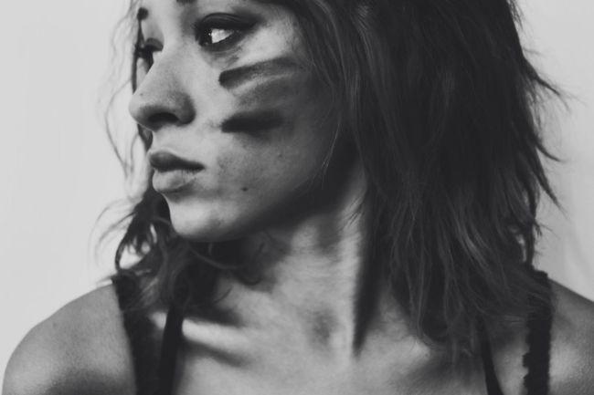 In order to get through life, we must be warriors👊🏼 Warrior War Paint Portrait Self Portrait Portrait Of A Woman Portrait Photography