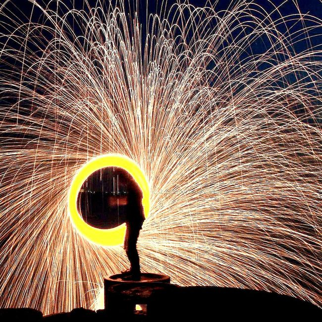 ...the ring Showcase: January Steelwool Long Exposure Fireworks Circle Taking Photos Check This Out Night Photography Suramadu Bridge Silhouette_collection Silhouette