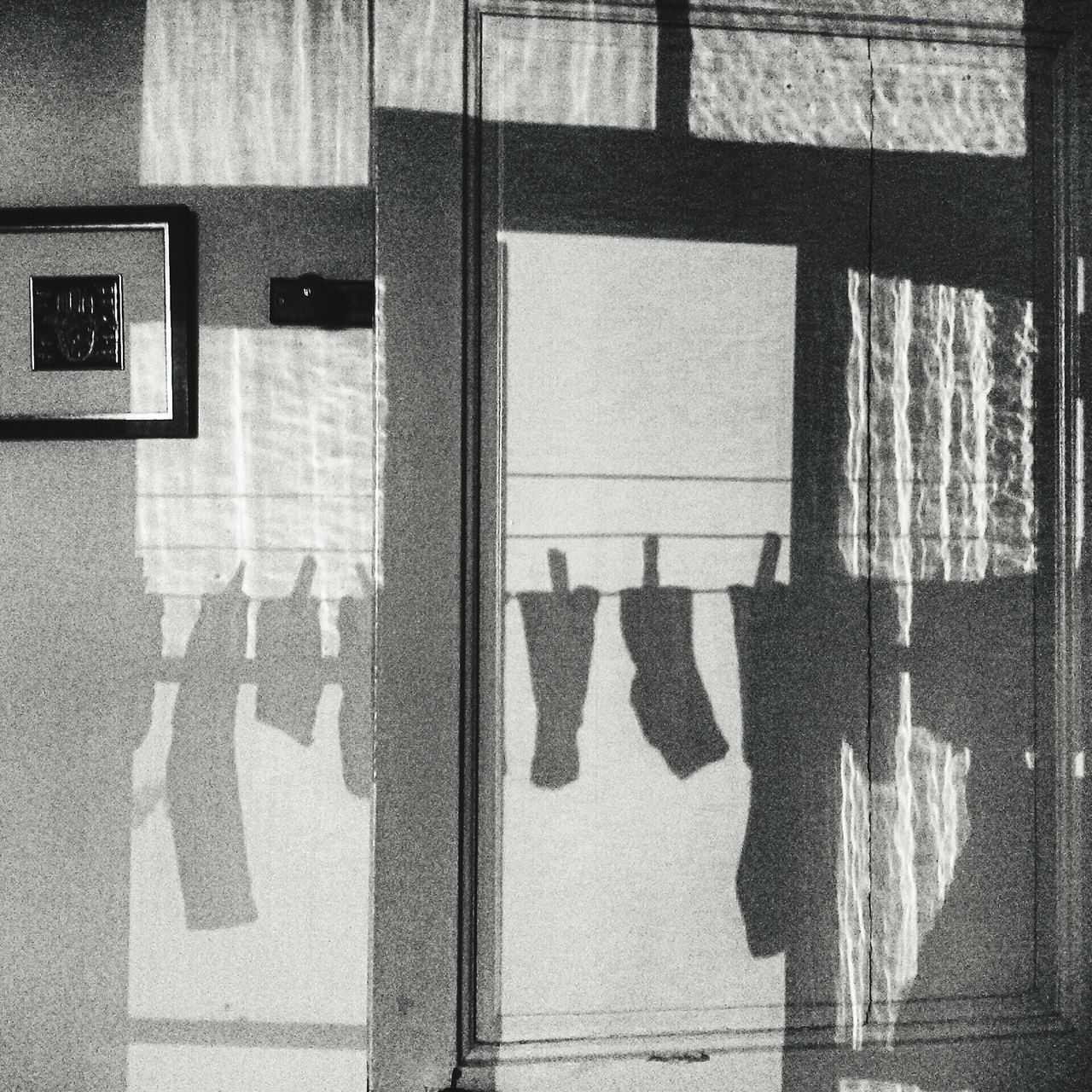 window, shadow, indoors, day, hanging, sunlight, no people, architecture, built structure, close-up