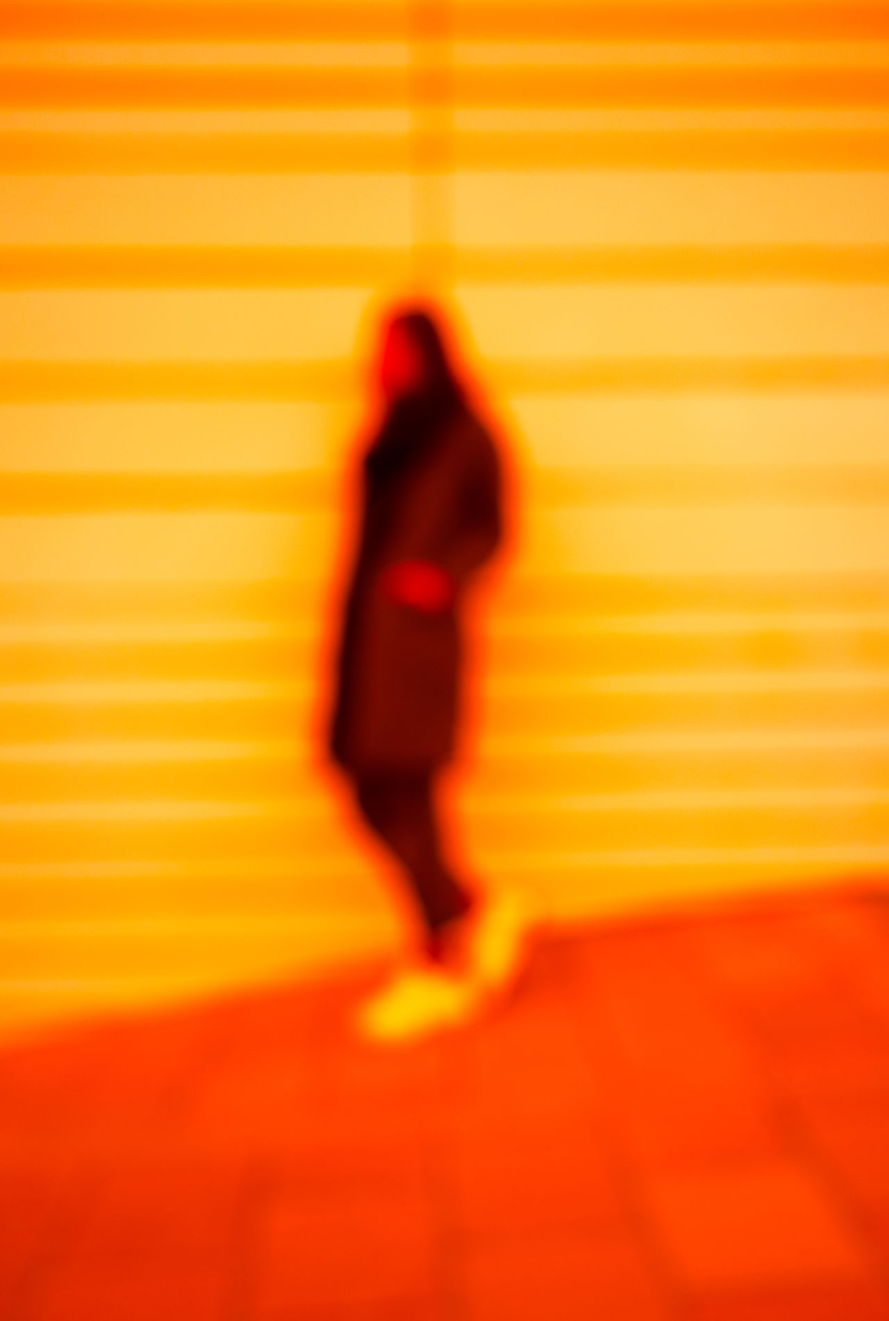 BLURRED SITUATION Adult Adults Only Blurred Motion Full Length One Person Pattern Red Standing Walking