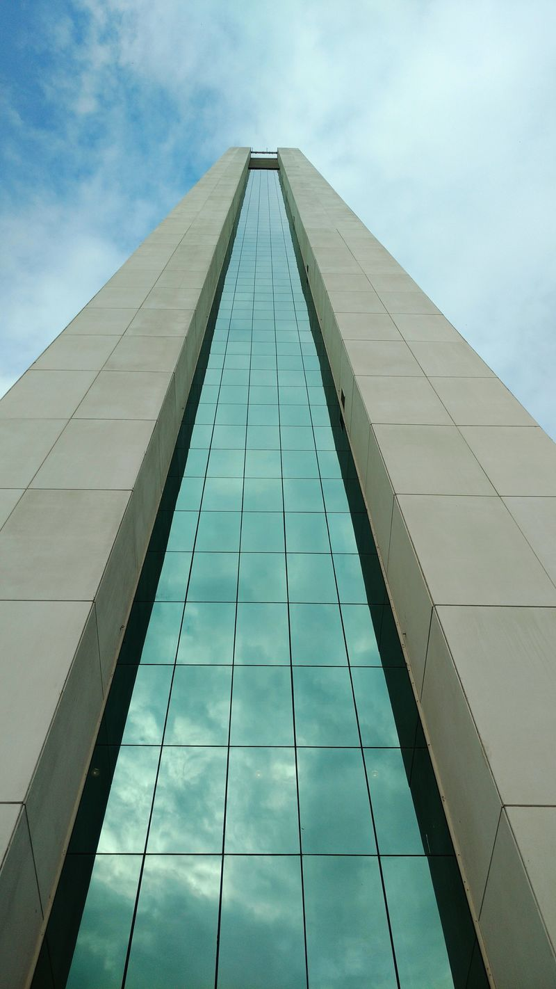Low Angle View Sky Architecture Built Structure Cloud Building Exterior Glass - Material Tower Tall - High Office Building In A Row Day Mobile Photography Taking Photos No People My Year My View