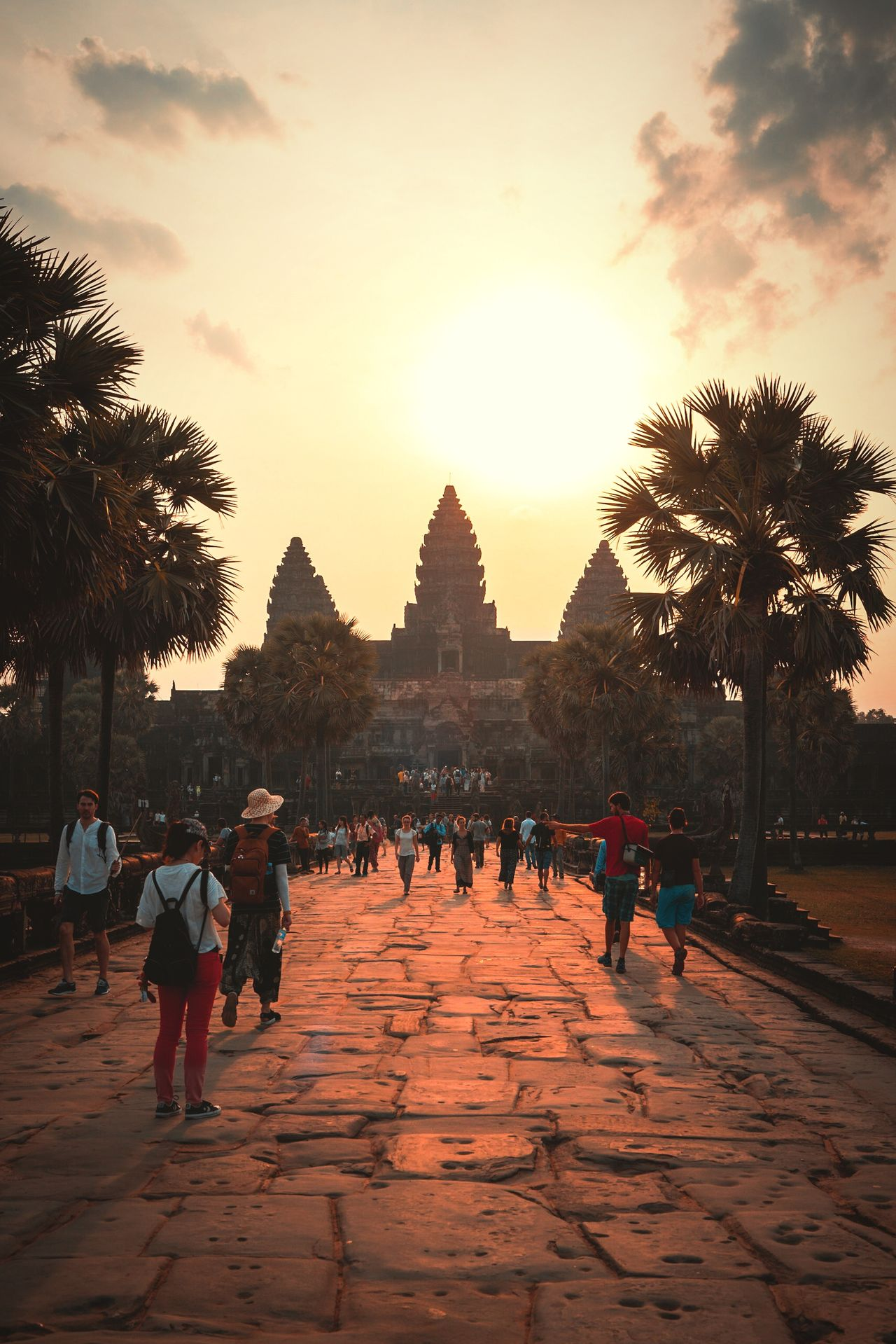 No wonder it's a Wonder of the World Travel Destinations Large Group Of People Religion Tourism History Sunrise Travel Built Structure Architecture Full Length People Sky Dawn Outdoors Building Exterior Travel Photography Showcase: April ASIA Cambodia Angkor Wat