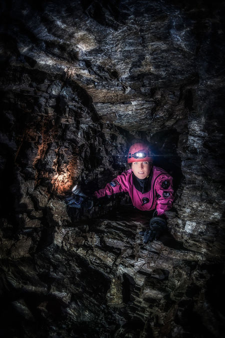 exploring flooded caves Adventure Cave Caves Karst Leisure Activity Nature One Person Portrait Rock - Object Smiling Speleo Speleology Young Women