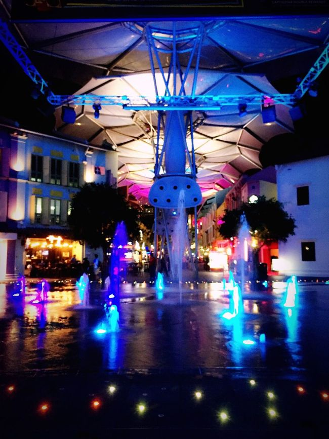 Singapore Have Fun Night Photography Clarke Quay Summertime Fountain Light And Shadow The Mix Up Feel The Journey Feel The Moment Tour Singapore Tourist Journey