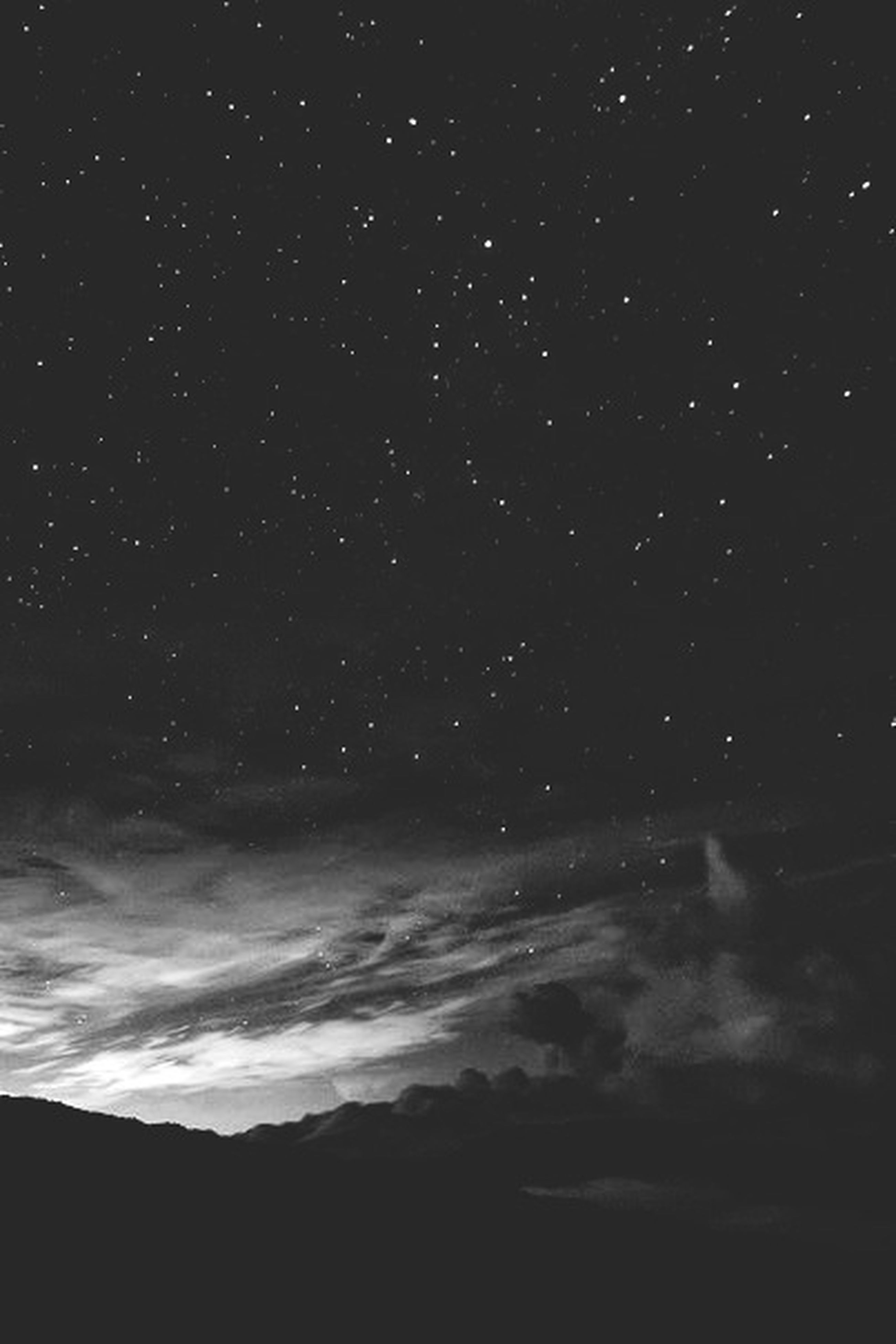 night, star - space, scenics, beauty in nature, star field, tranquil scene, tranquility, sky, astronomy, nature, dark, idyllic, star, illuminated, low angle view, galaxy, no people, outdoors, space, silhouette