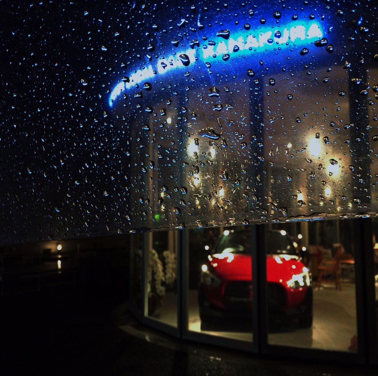 Raindrops Nightphotography Red&blue