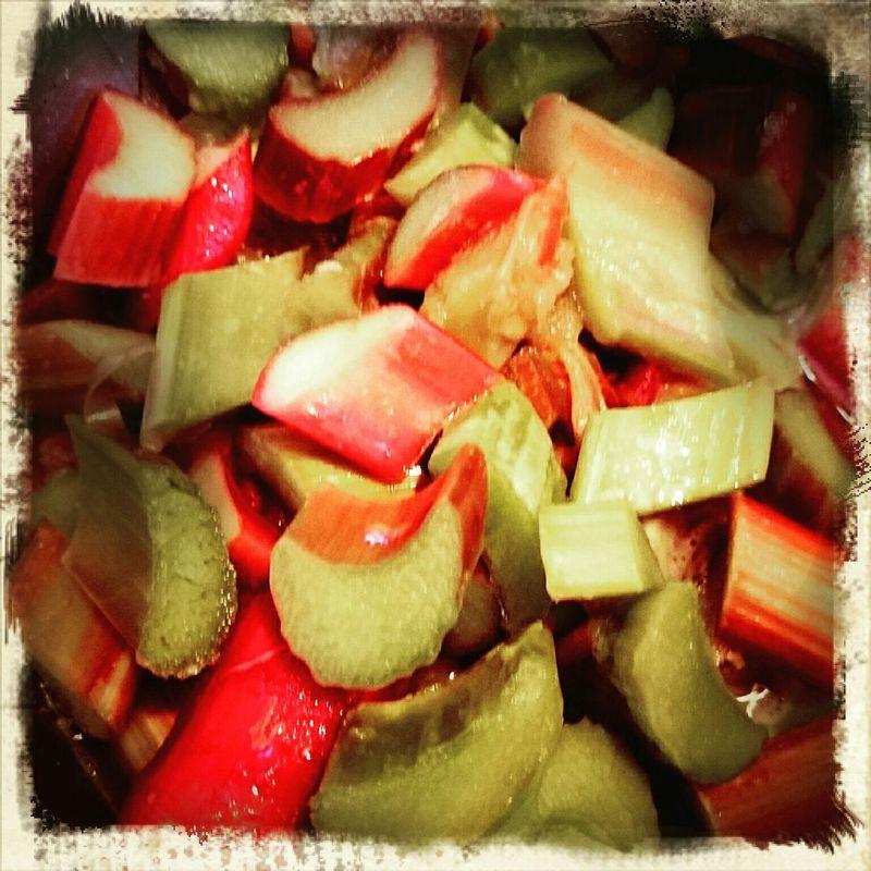 Rhubarb Food Colorful Tasty Healthy Vegetables Isgoodforyou