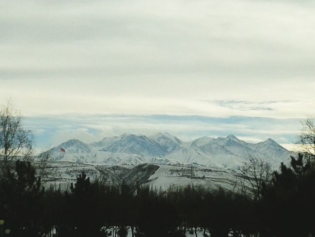Clouds And Sky Mountains Winter Kyrgyzstan