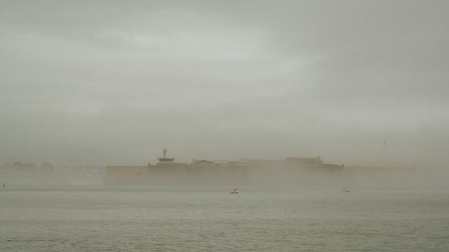 Port Louis in the mist. Port Louis Port-louis Lorient Lorifort France France 🇫🇷 Brittany Water Sea Tranquility Tranquil Scene Scenics Waterfront Calm Sky Nature Seascape Ocean Distant Cloud - Sky Solitude Outdoors France Photos From My Point Of View Check This Out