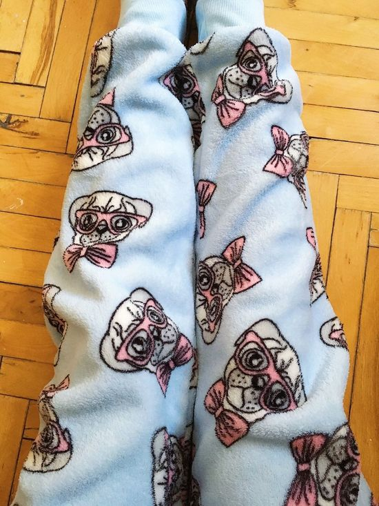 Dog PJ  One Person Indoors  Pattern Fashion Close-up Adult People EyeEmNewHere Blue Pink Color Bowtie Bowtiesarecool Cozy Softness Coveralls