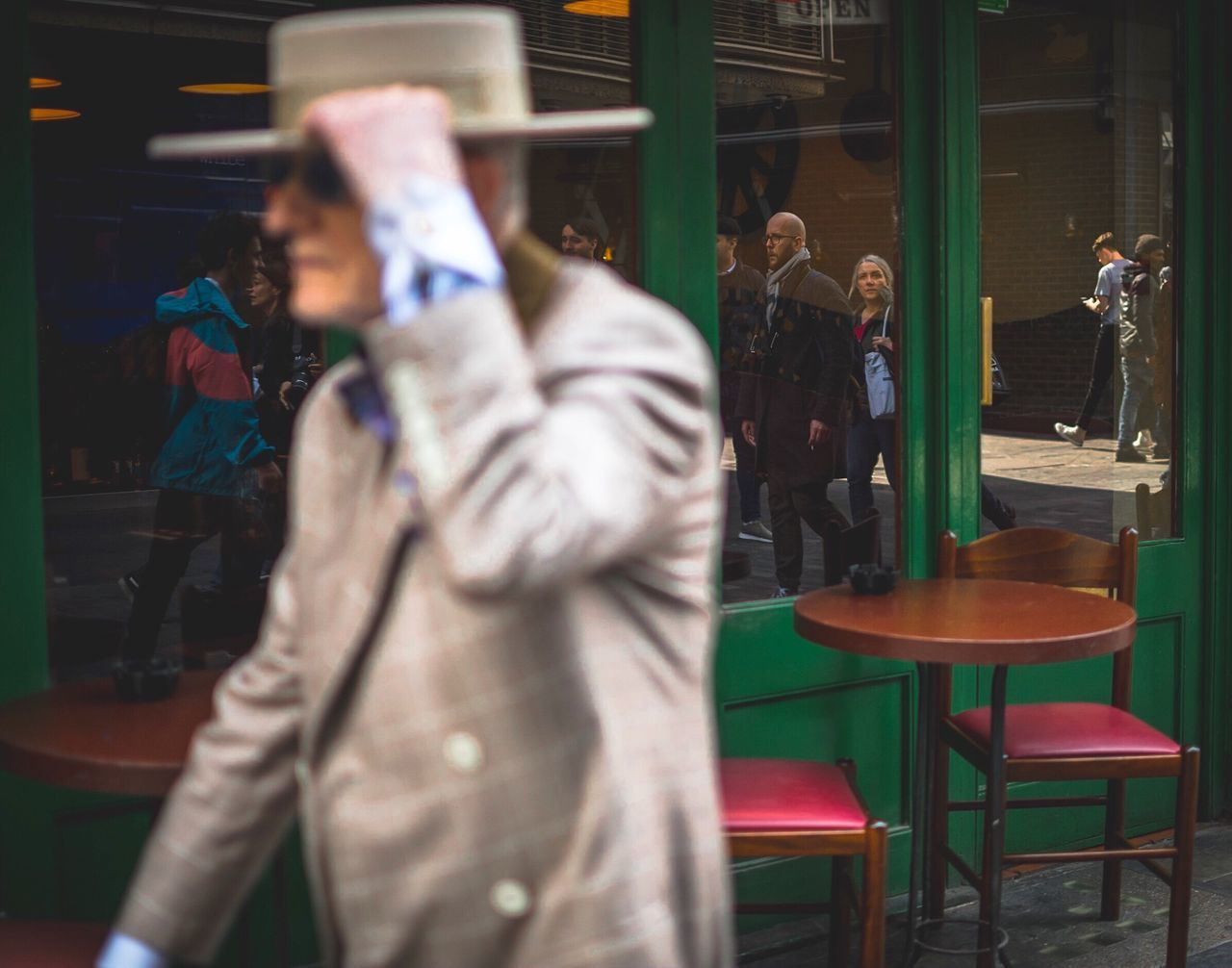 The Street Photographer - 2017 EyeEm Awards His name is Soho George and he's 83yrs old Real People Standing Indoors  Soho London Streetphotography Street Photography Photographing Men One Person Day People