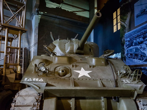 Overlord Museum, Colleville-sur-mer, Normandy, France, July 2017 D-Day Operation Overlord Overlord Museum Education Exhibition Exhibits History Museum Overlord Sherman Tank Tank