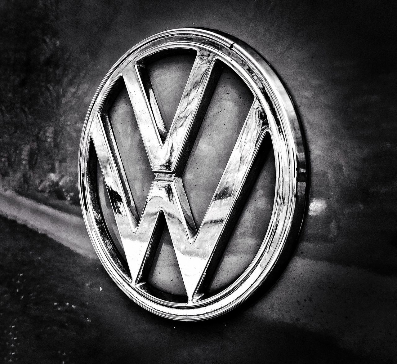 Volks wagon, VW . Badge. Shiny. Car