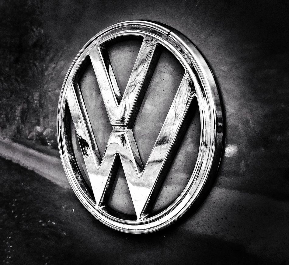 Volks wagon, VW . Badge. Shiny. Car