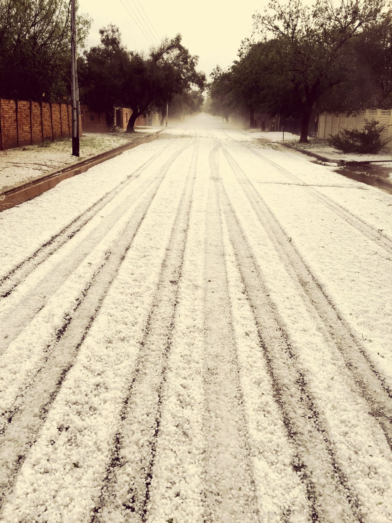Hale storm in Bloemfontein Rain Rainstorm Halestorm Road