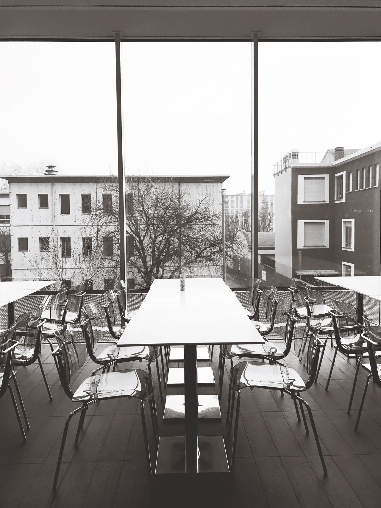 Chair Table Window Architecture No People Indoors  Modern Day Library Sky Sliding Door