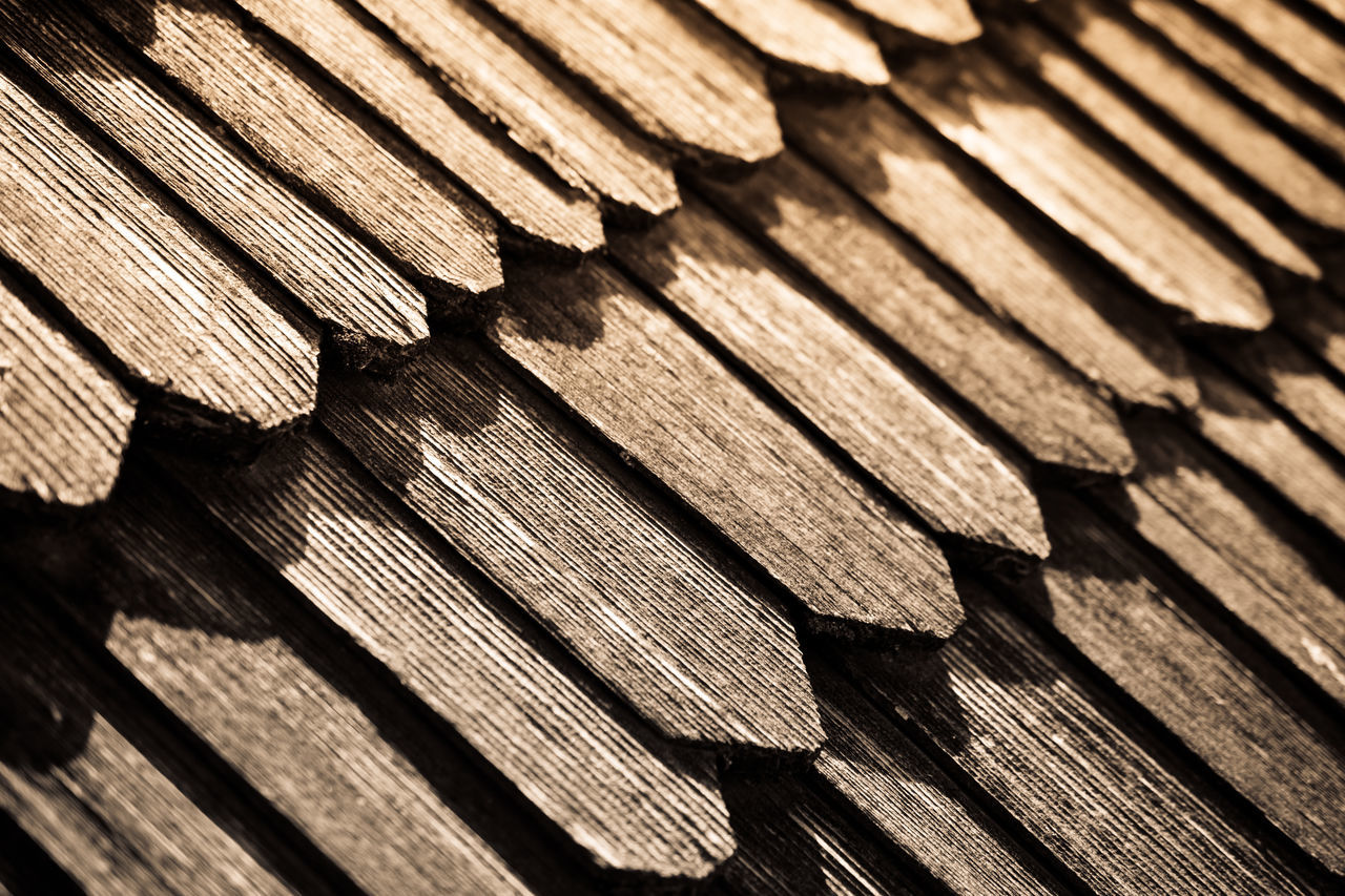 Kamenetz-Podіlsk fortress, Ukraine. Backgrounds Brown Close-up Day Full Frame Light And Shadow Monochrome No People Old Old Buildings Old Town Pattern Pattern Pieces Patterns & Textures Roof Rooftop Row Sepia Shingles Textured  Timber Wood - Material Wood Shingles