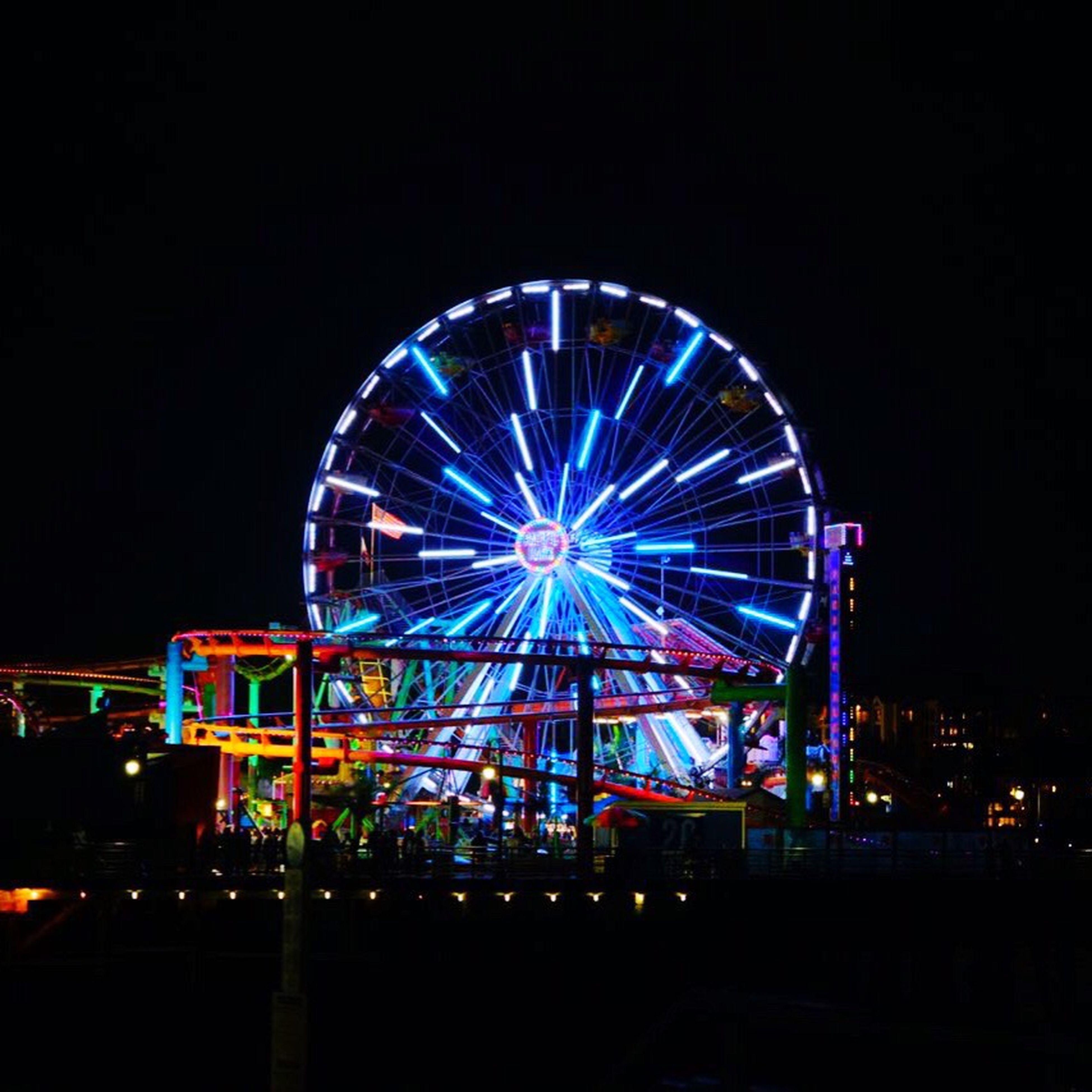 Night Amusement Park Outdoors