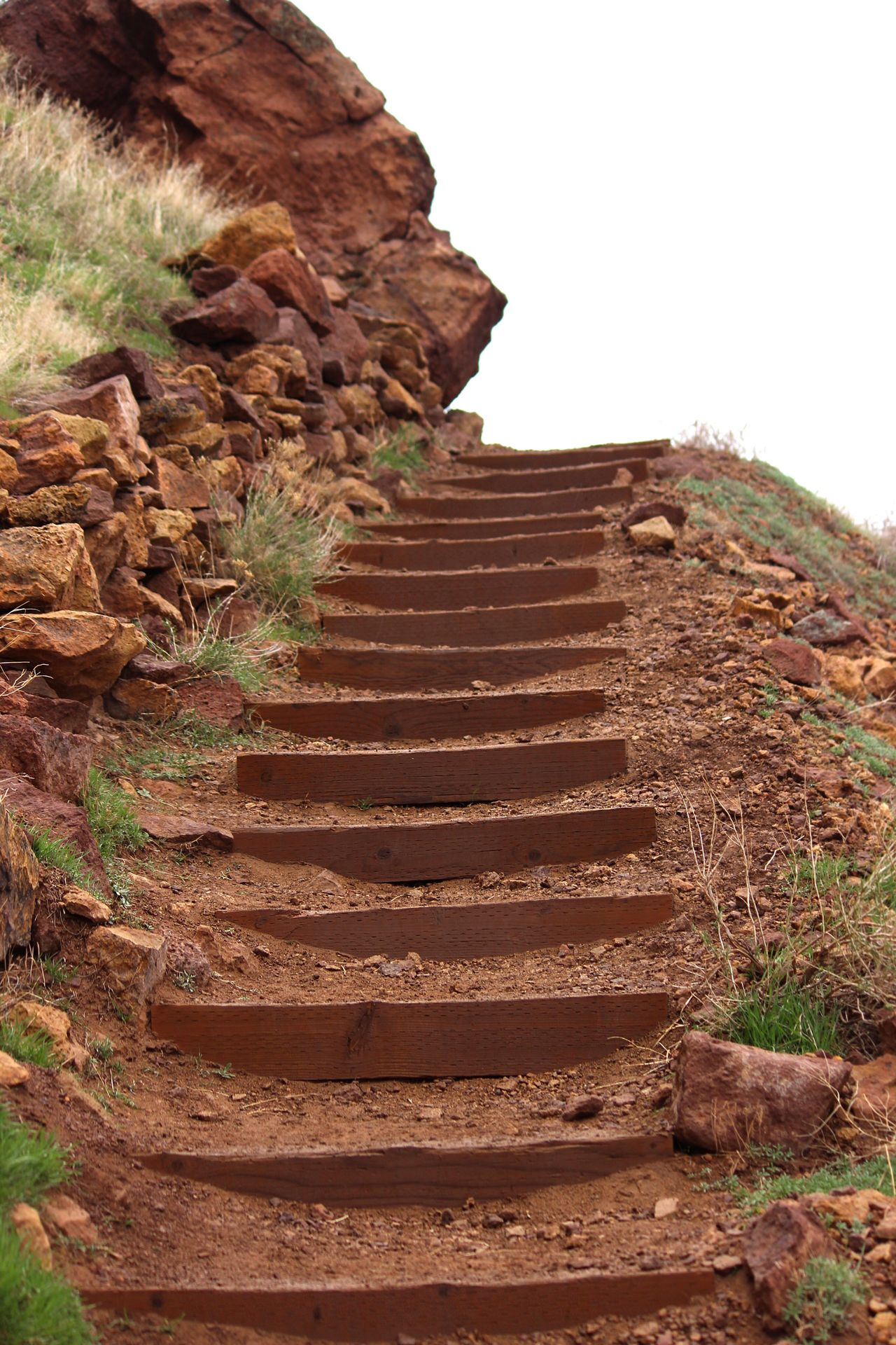 Steps Staircase Steps And Staircases Rock - Object Brown Ancient Low Angle View History Climbing Arid Climate Desert No People Nature Day Outdoors Sky Smith Rock PNW Oregon Oregonexplored Central Oregon Rockhound Nature Landscape Beauty In Nature