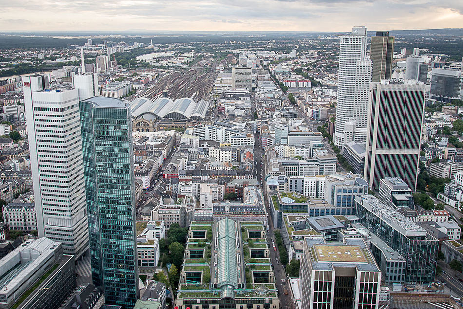 Aerial View Architecture Buildings City City Grid Cityscape Cityscape Cityscapes Downtown Downtown District Frankfurt Frankfurt Am Main Geometry Germany Grey Sky Outdoors Skyscraper Travel Destinations Urban Development Urban Skyline