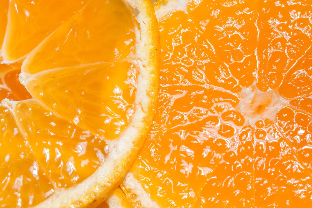 orange Abstract Backgrounds Citrus Fruit Close-up Cross Section Day Food Freshness Fruit Full Frame Grapefruit Healthy Eating Indoors  Lemon No People Orange - Fruit Orange Color Refreshment SLICE Studio Shot Textured  Zest