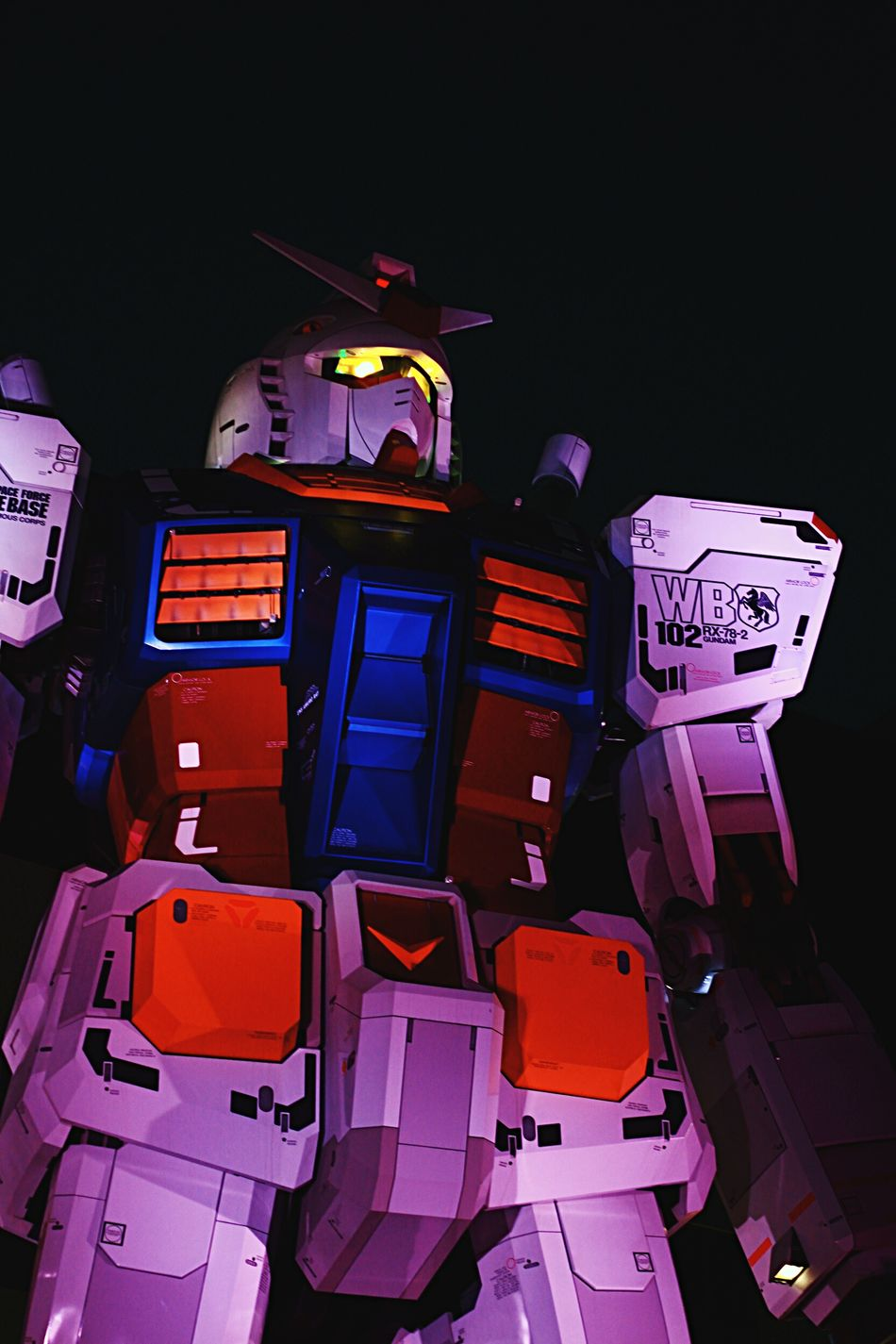 This needs to work. Now Gundam Life Size  Anime Manga Japan Night Low Angle View Outdoors Robot Mech Welcome To Black