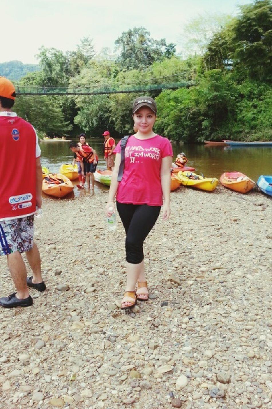 A throwback photo. Kayaking activity during leisure time at Semadang River, Padawan. Kayaking Semadangriver Kampungbengoh Kampungdanu Padawan Tourism Leisure Time Rafting Borneo Sarawak