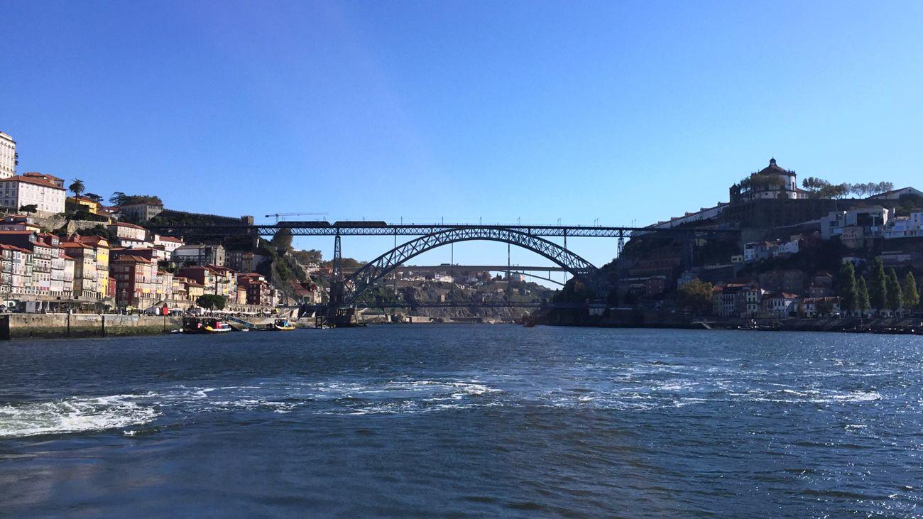 Douro between Porto and Gaia, Portugal Portugal Douro  Bridge River Cityscape Porto Ponte Dom Luis