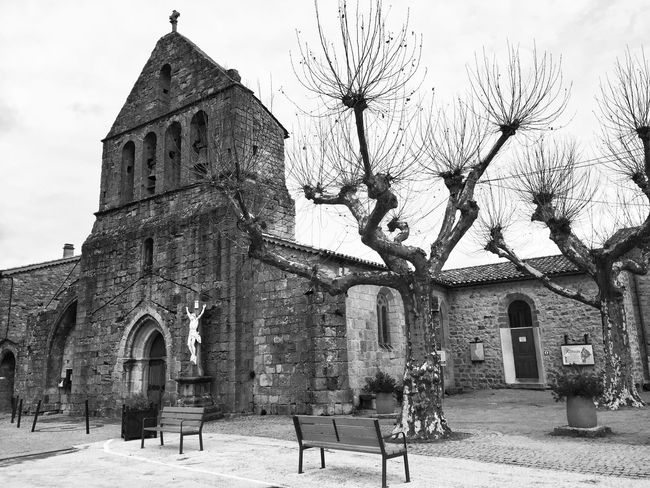 Black And White Black And White Photography AMPt_community France Streets Village Bnw Church