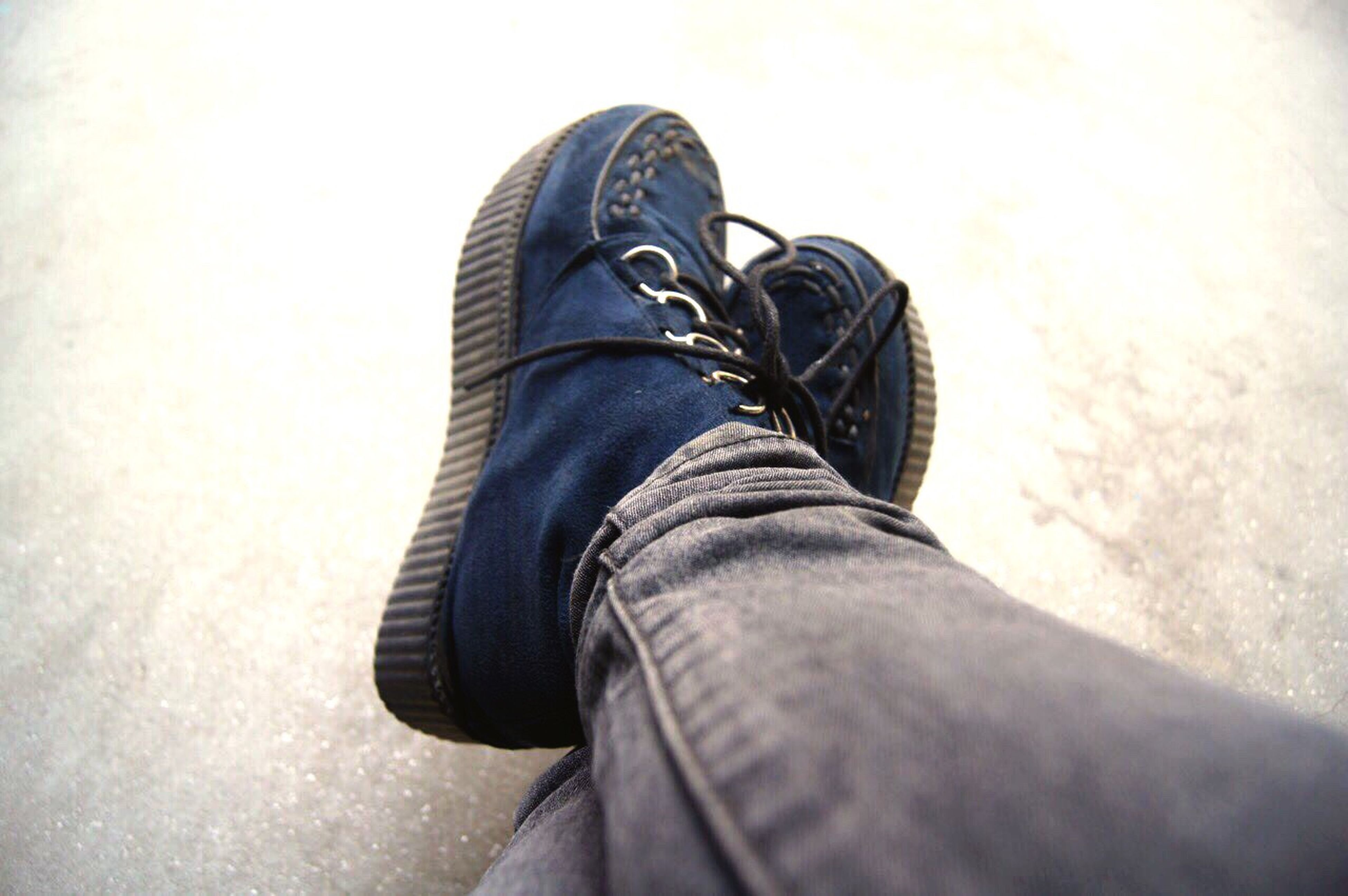human leg, low section, human body part, jeans, human limb, limb, personal perspective, casual clothing, shoe, one person, lifestyles, human foot, fashion, real people, men, leisure activity, close-up, indoors, day, one man only, only men, adult, people