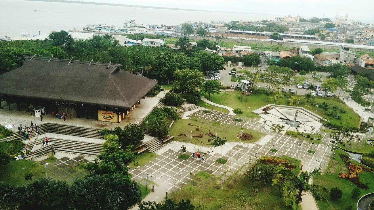 Vista do Parque Mangal das Garcas, a partir do Mirante. Belém do Pará.