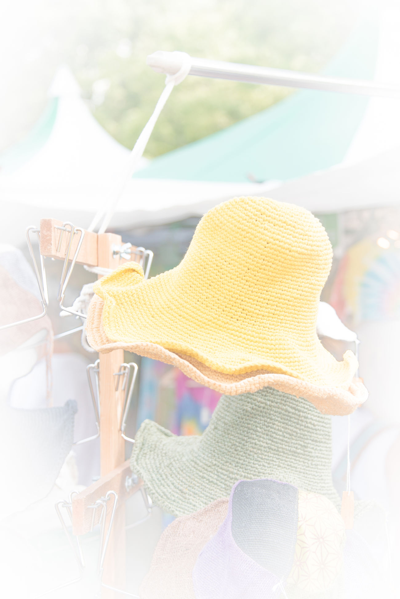 Bright Colors City Landscape Fleecy Soft Colors  White Yellow Hat Yelow