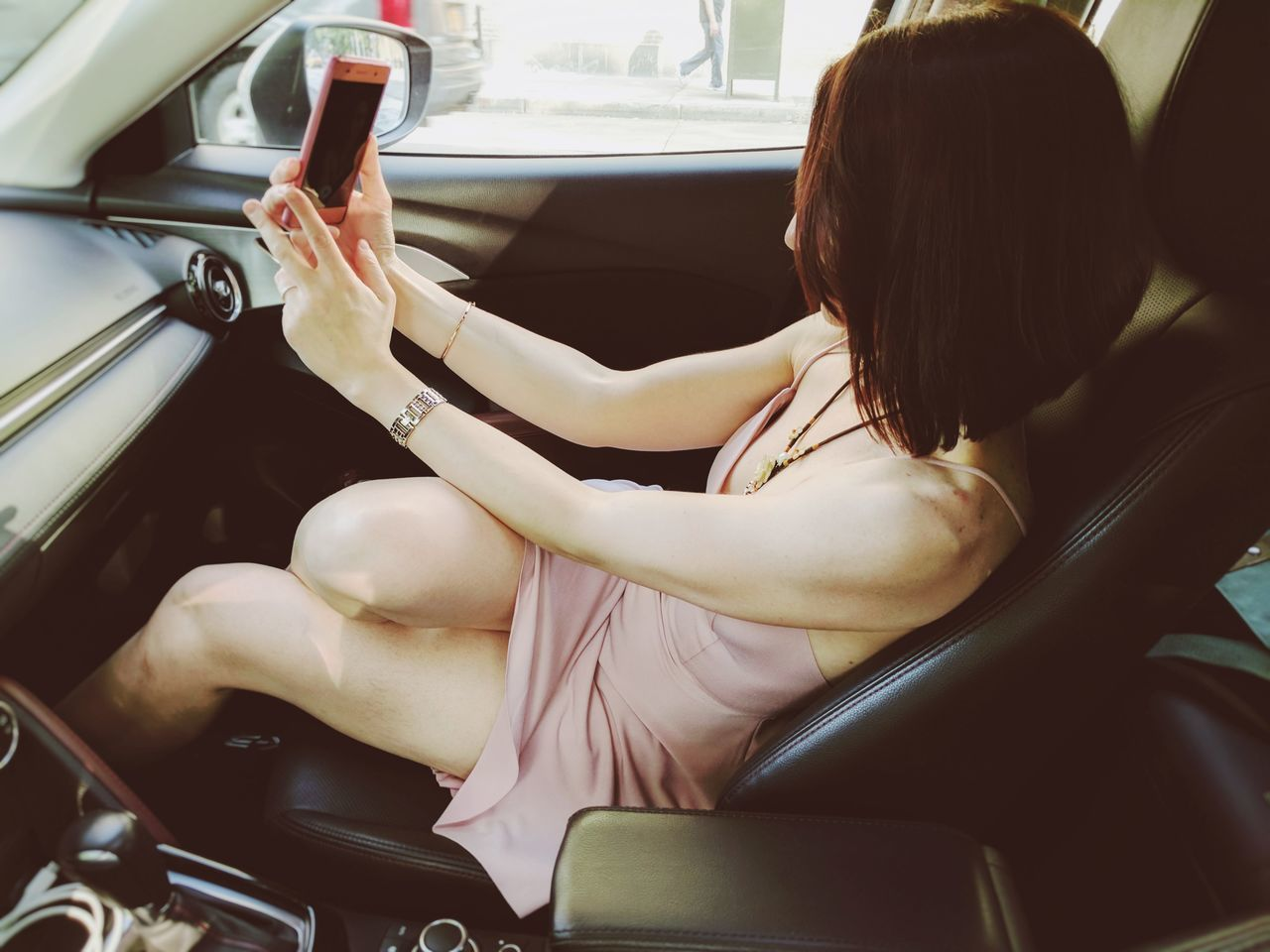 Car Interior Only Women Adults Only One Woman Only One Person Adult One Young Woman Only People Young Adult Sitting Women Young Women Beautiful Woman Fashion Girl NYC Human Body Part Self Portrait Selfıe Stylish Style Dressed Up Dress Pink Beauty Let's Go. Together.