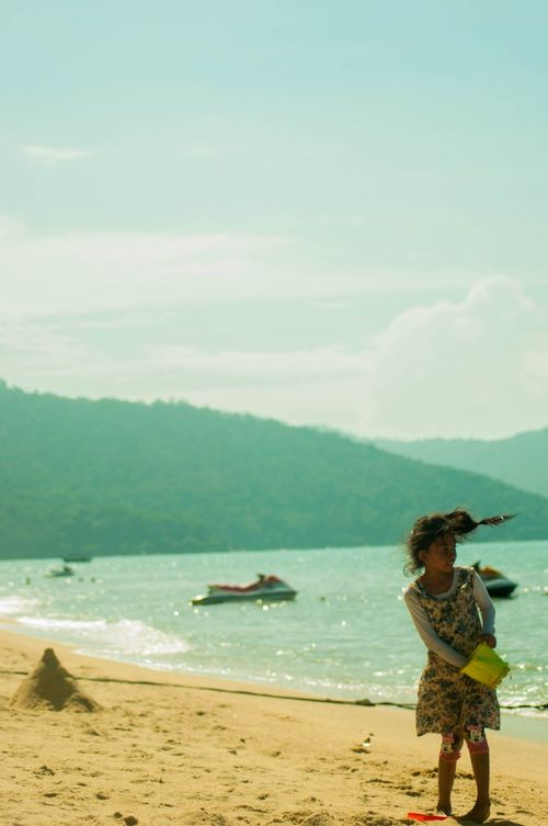 Sandy The Following Pulau Pinang Beach Holiday Portrait Travel Family Sky And Clouds Cliffs Sea And Sky Ocean Malaysia