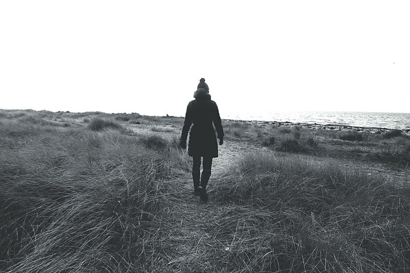 Wanderlust Wandering Wandering Around Wanderlusting Person Beach Alone Woman Lonely Tranquil Scene Tranquility Nature Photography Natural Beauty Blackandwhite Photography Black And White Landscape_Collection Landscape_photography Naturelovers Nature_collection Towardsthewater Water Ocean Oceanside Beachphotography Winter