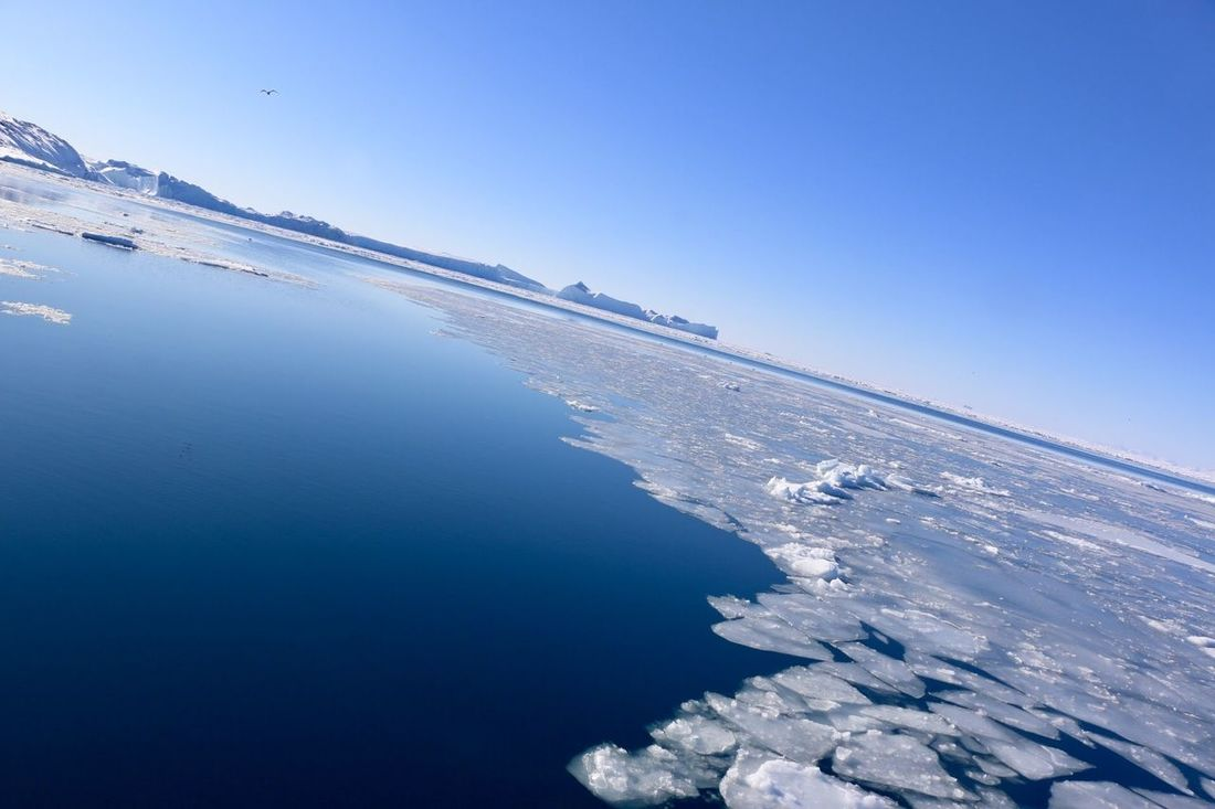 Arctic Greenland Iceberg Landscape Nature Ocean Sea And Sky Water Winter