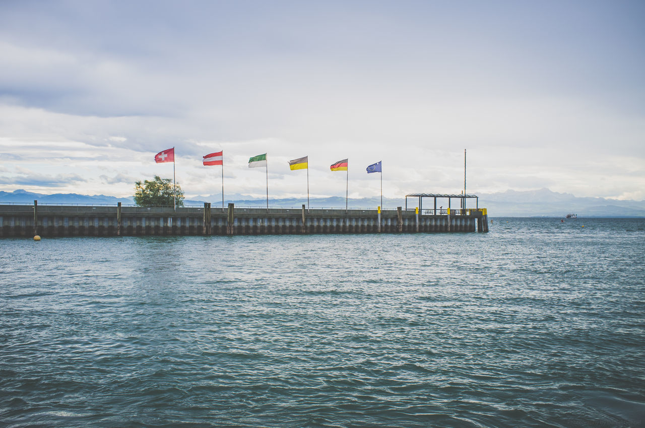 Lake Constance, Germany Amazing Blue Sky Boating Bodensee Bodenseeregion Deutschland Europa Europe Flag Fuji Fujifeed Fujifilm Fujifilm_xseries Fujixseries Germany Lake Constance Lake Constance, Germany Lakeconstance Outdoors Pier Pole Sailing Vacation Vacations Water