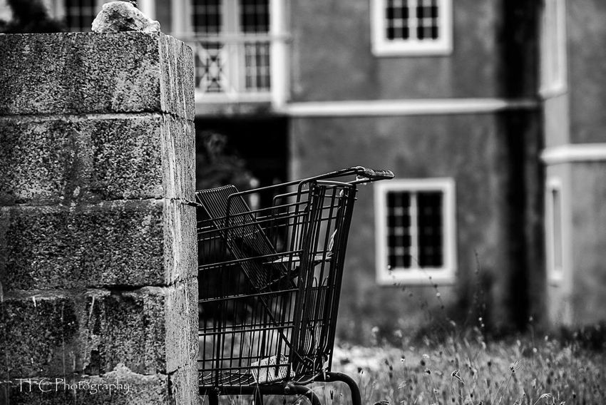 Shopping Cart Outdoors No People Supermarket Day Virus Turks And Caicos Turks And Caicos Islands Turksandcaicos Black And White Photography Looking To The Other Side