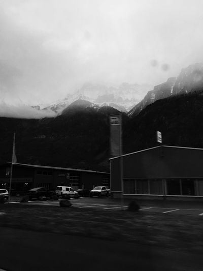 Car Mountain Sky Transportation Built Structure No People Land Vehicle Road Outdoors Architecture Day Nature Blackandwhite Sunday