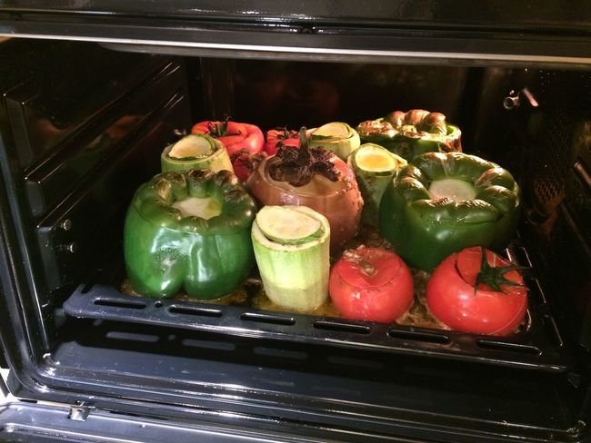Stuffed veggies Greek Oven Stuffed Vegetarian Vegetarian Food Bell Pepper Close-up Food Food And Drink Freshness Greek Cuisine Greek Food Healthy Eating Indoors  No People Ovencooking Stuffed Vegetables Tomato Variation Vegetable Vegetables Zuchinni