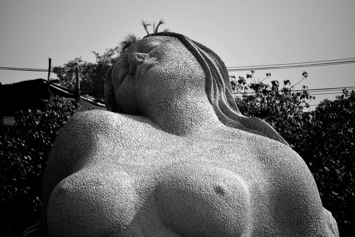 Statues One Woman Only Yakshi Black & White Close-up Outdoors Shankumugham Trivandrum Kerala The Gods Own Country ;)